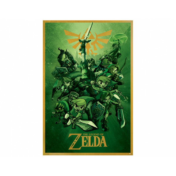 Pyramid Poster 3D: The Legend Of Zelda (Link)