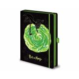 Pyramid Premium A5 Notebook Rick and Morty: (Portals)