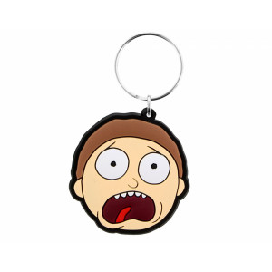 Pyramid Rubber Keychain Rick and Morty: Morty Terrified Face