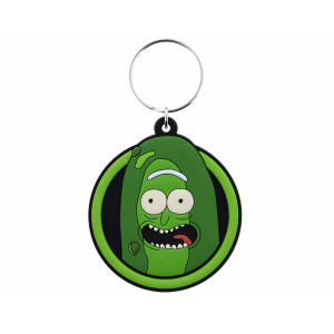 Pyramid Rubber Keychain Rick and Morty: Pickle Rick