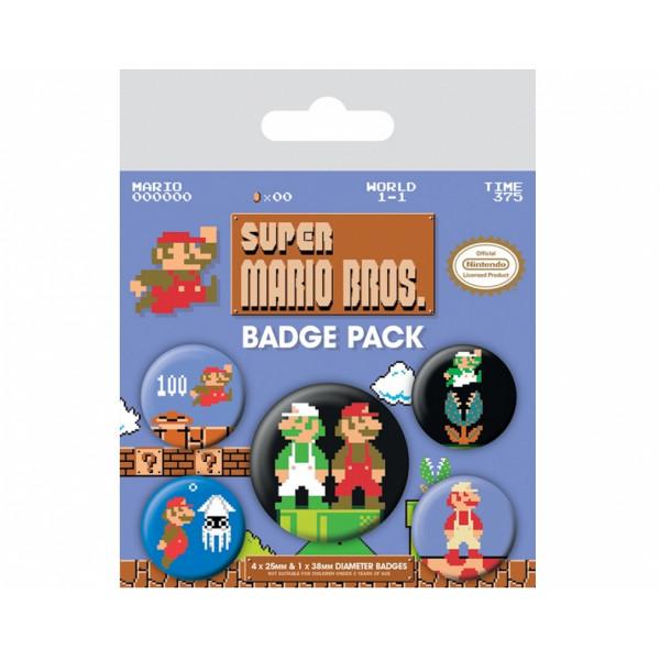 Набор значков Pyramid Super Mario Bros. (Retro)